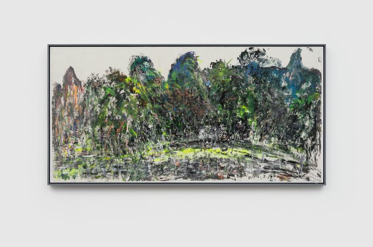 14 - 阳朔公园(漓江)Yangshuo Park(The River) - 2019 - 纸本丙烯水墨 Acrylic and Ink on Xuan Paper - 100x201cm.JPG