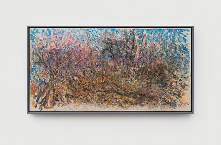 20 - 温榆桃花 Peach Blossom in Wenyu-2020-纸本丙烯水墨 Acrylic and Mixed Media on Xuan Paper-68.5x133.5cm.jpg