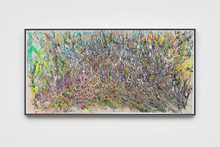21 - 冬天的植物园 Botanical Garden in Winter 纸本丙烯水墨 Acrylic and Mixed Media on Xuan Paper-68.5x133.5cm.JPG