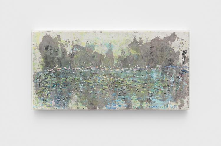 27 - 荷塘 Lotus Pond - 2009 - 纸本丙烯水墨 Acrylic and Ink on Xuan Paper - 70x140cm.JPG
